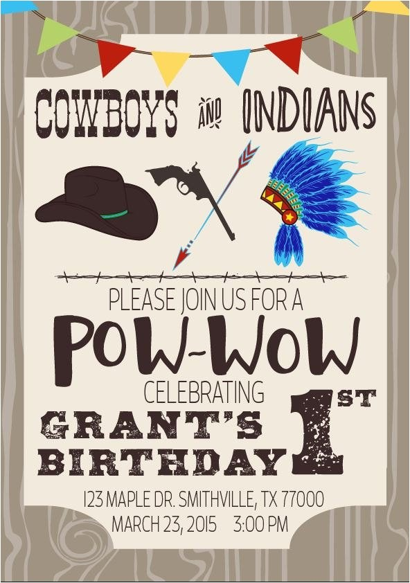 cowboys indians birthday party