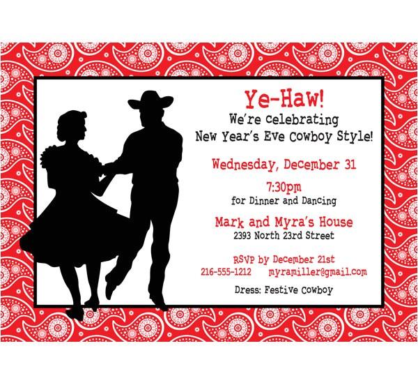 western hoedown invitation 436849