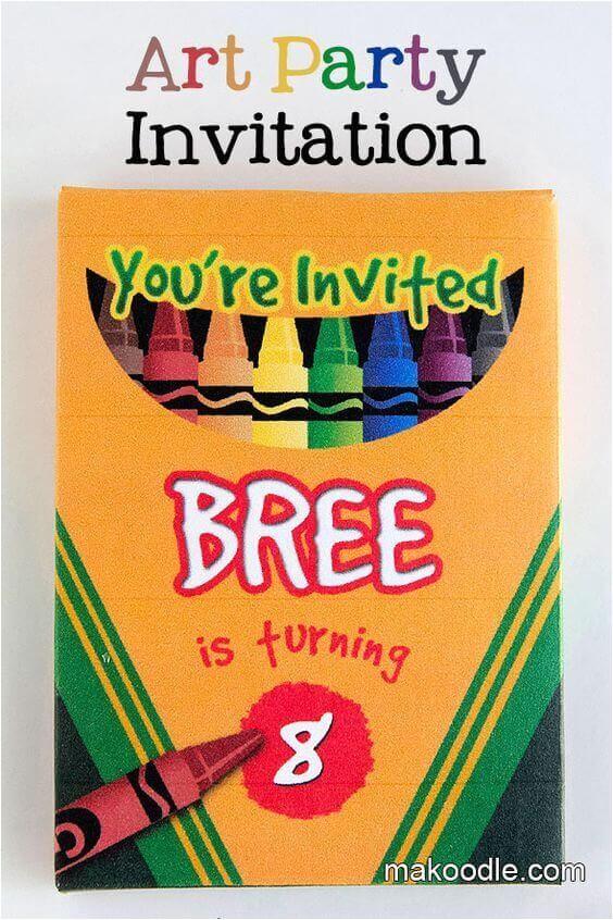 19 creative crayola crayon party ideas