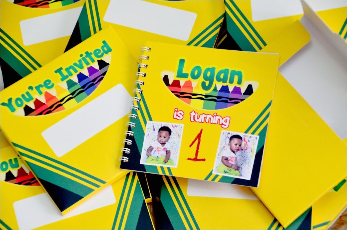 logans crayola themed 1st birthday party