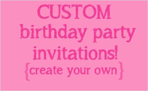 make your own birthday invitations free kids
