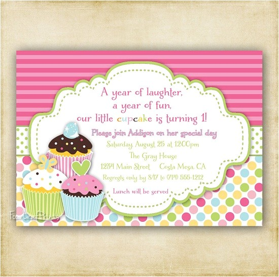 Cupcake Party Invitation Wording Cupcake Birthday Invitations Ideas for Her Bagvania Free