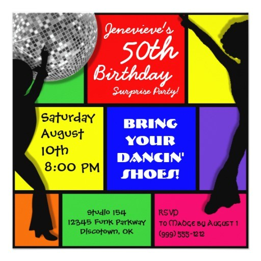 Custom Disco Party Invitations Custom Disco Birthday Party Invitations Zazzle