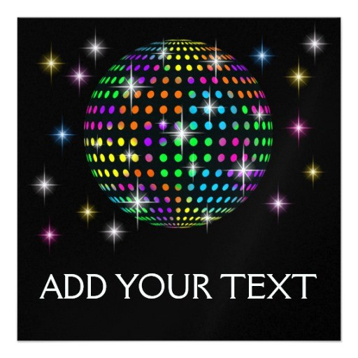 disco party srf custom invitation 161810984913208024