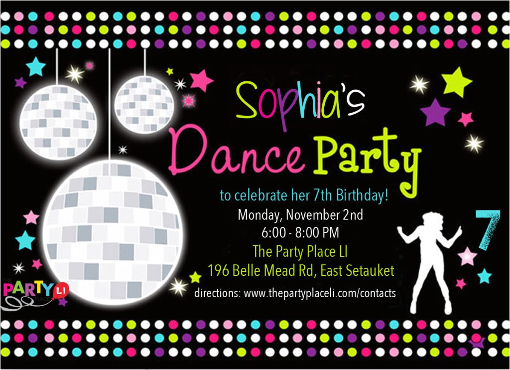 dance party invitations printable free shtml