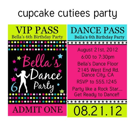 dance party vip lanyard badge custom