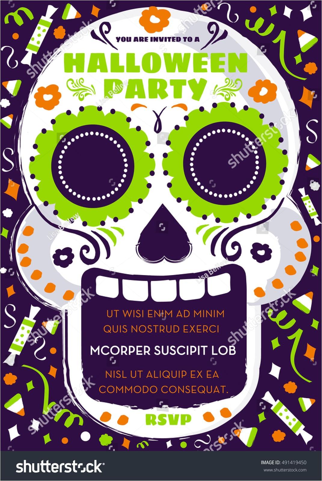 day dead sugar skull halloween party 491419450