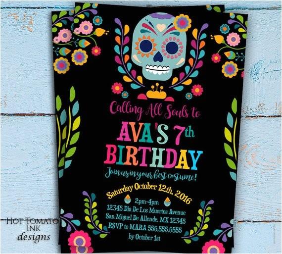 day of the dead invitation dia de los