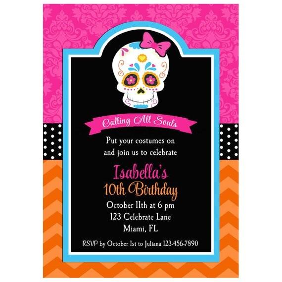 day dead invitation skull dia de