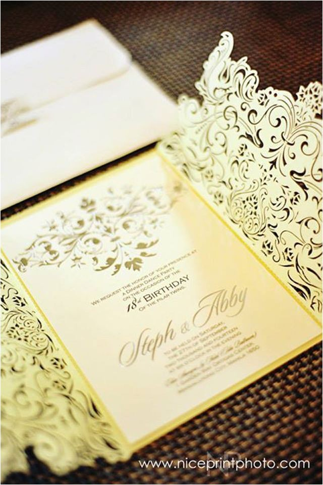 debut invitations