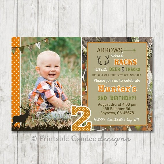 Deer Hunting Birthday Party Invitations Deer Hunting Birthday Invitation Hunting by Printablecandee