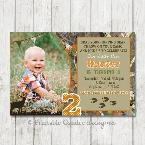 deer hunting birthday invitation hunting