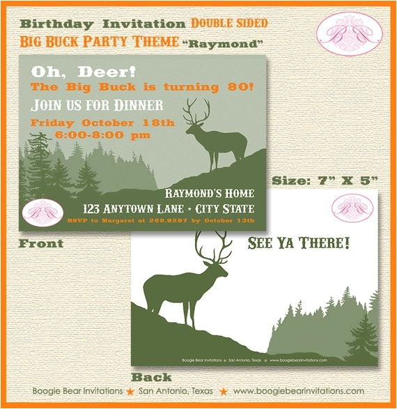 deer hunting birthday party invitation