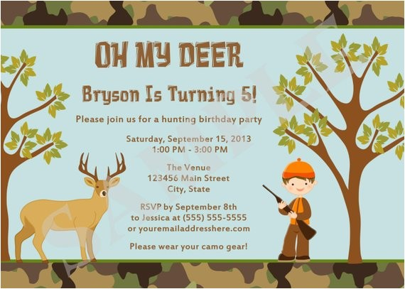 hunting camo deer birthday party