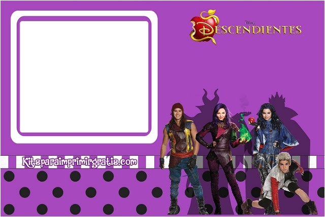 descendants free printable mini kit