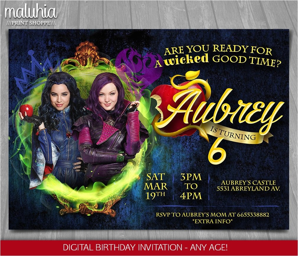descendants invitation disney