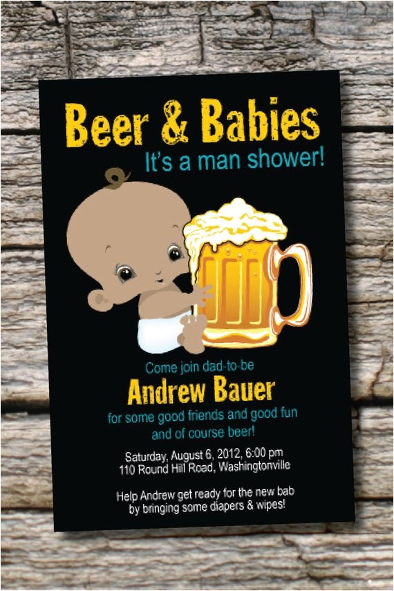man shower african american beer babies