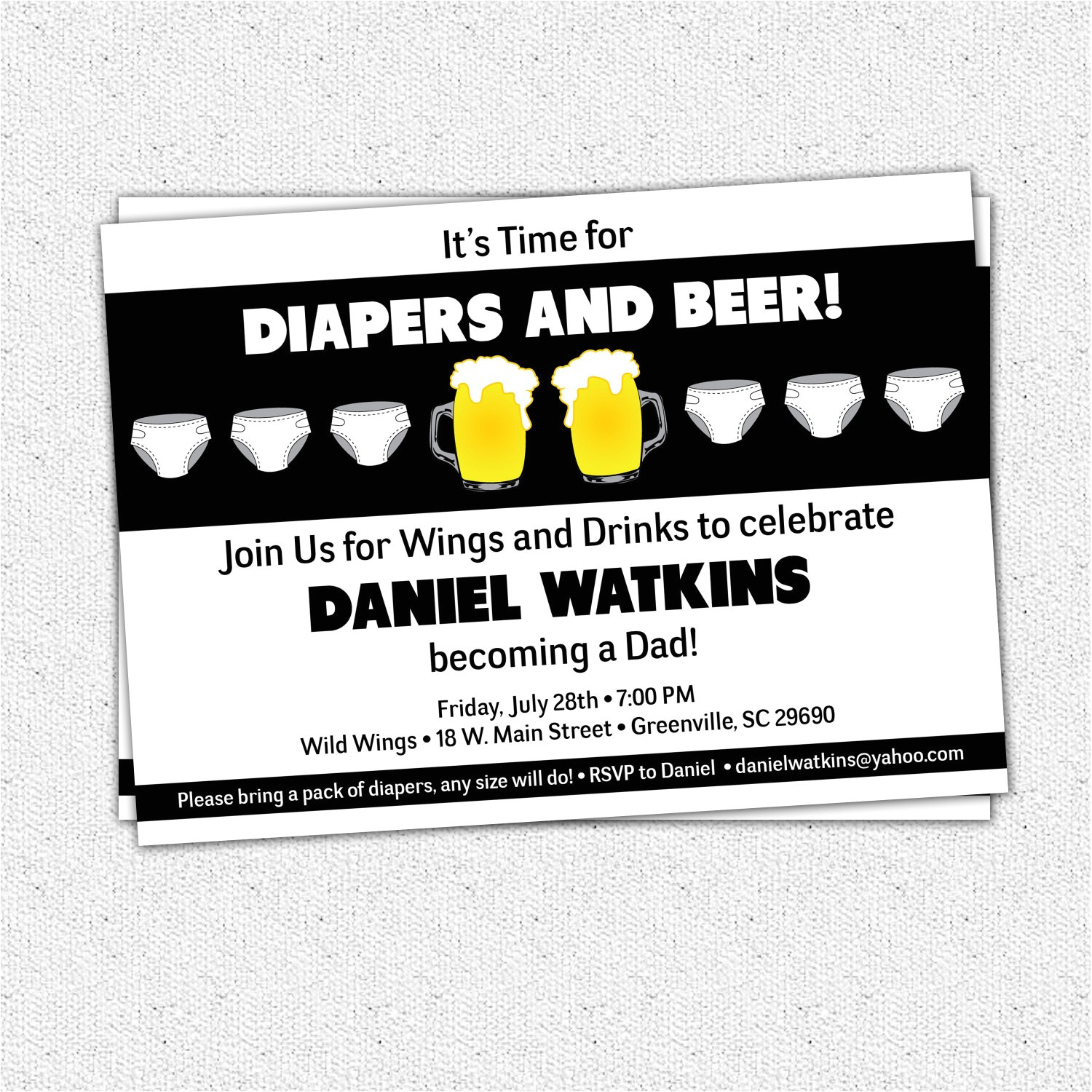 6809998 chuggies beer and diaper party invitations babies for men dads baby show