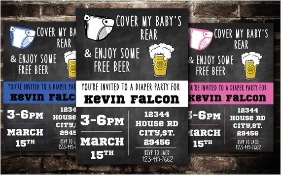 diaper and beer party printable