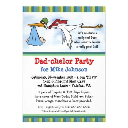 dadchelor cute new daddy poker party invitations 161234069904575055