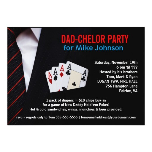 dadchelor sophisticated poker party invitations 161944644309203122