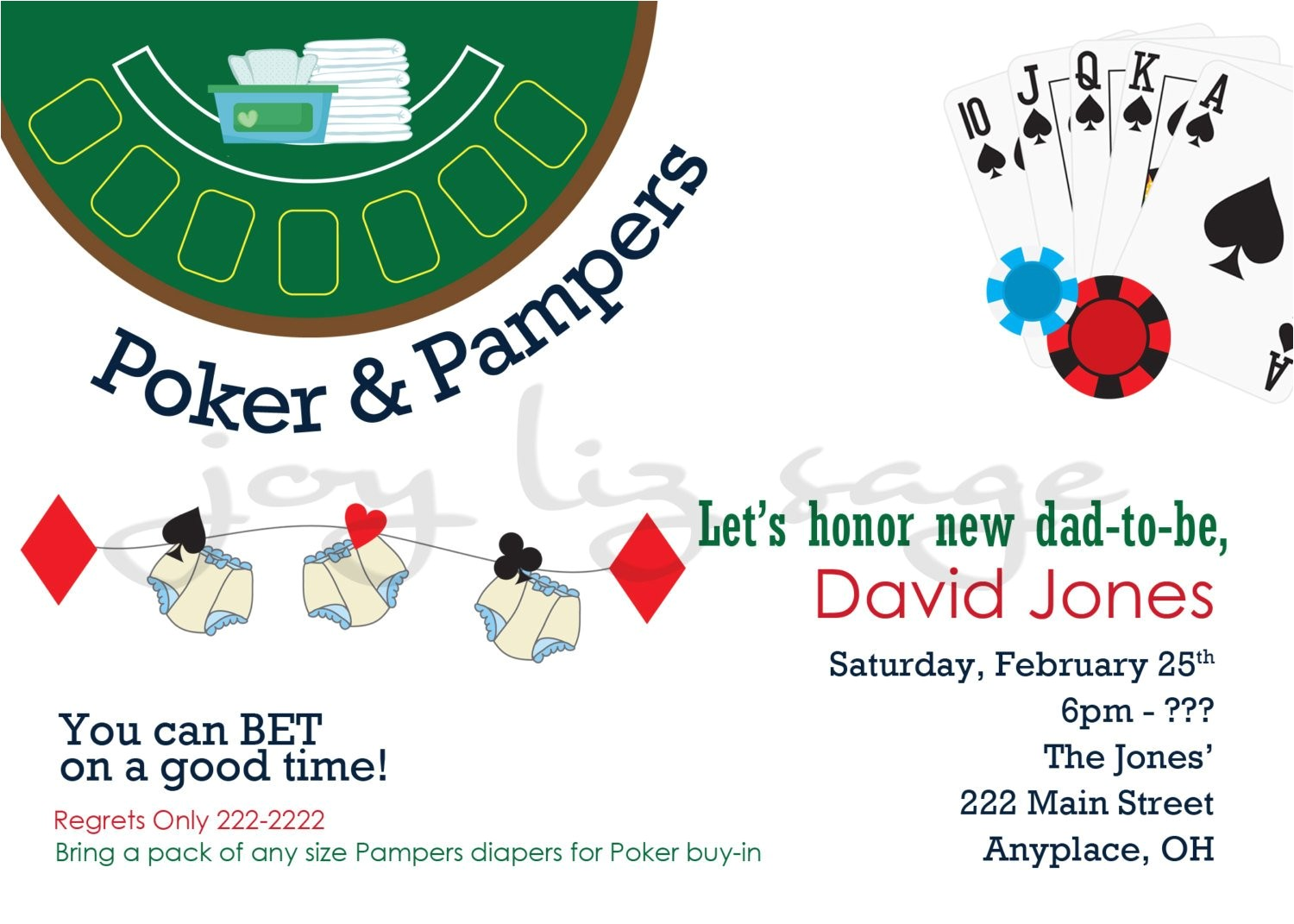 poker and pampers diaper shower digitial
