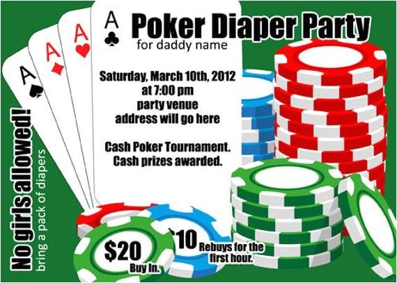poker diaper party card digital file 4x6