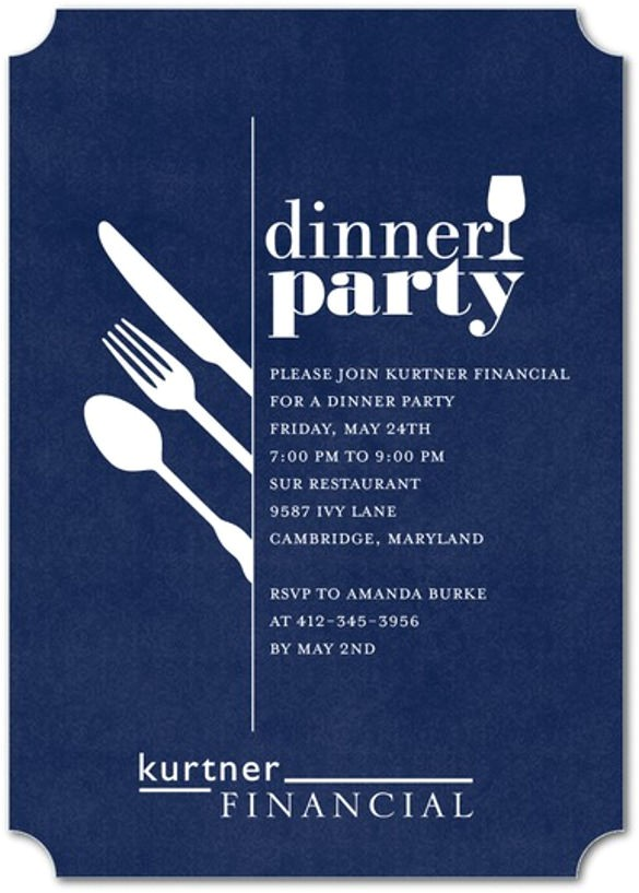 sample dinner invitation