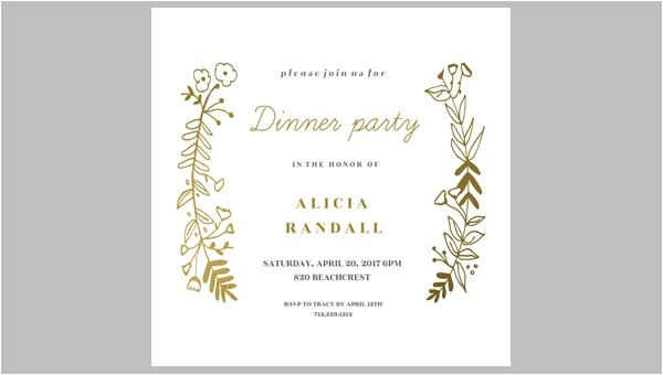 printable dinner invitation