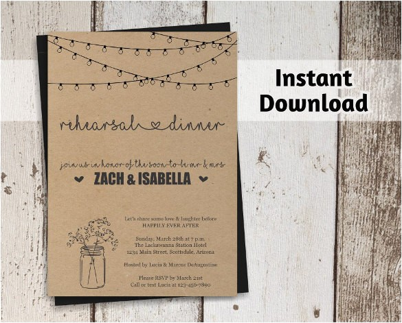 Dinner Party Invitation Templates Free Download Dinner Invitation Template 44 Free Psd Vector Eps Ai