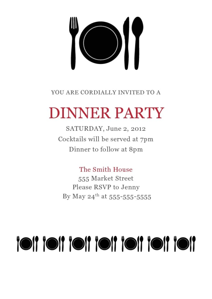 dinner invitation template free ctsfashion for business dinner invitation template