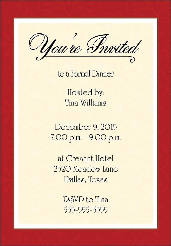 samples of invitations of appreciation dinner