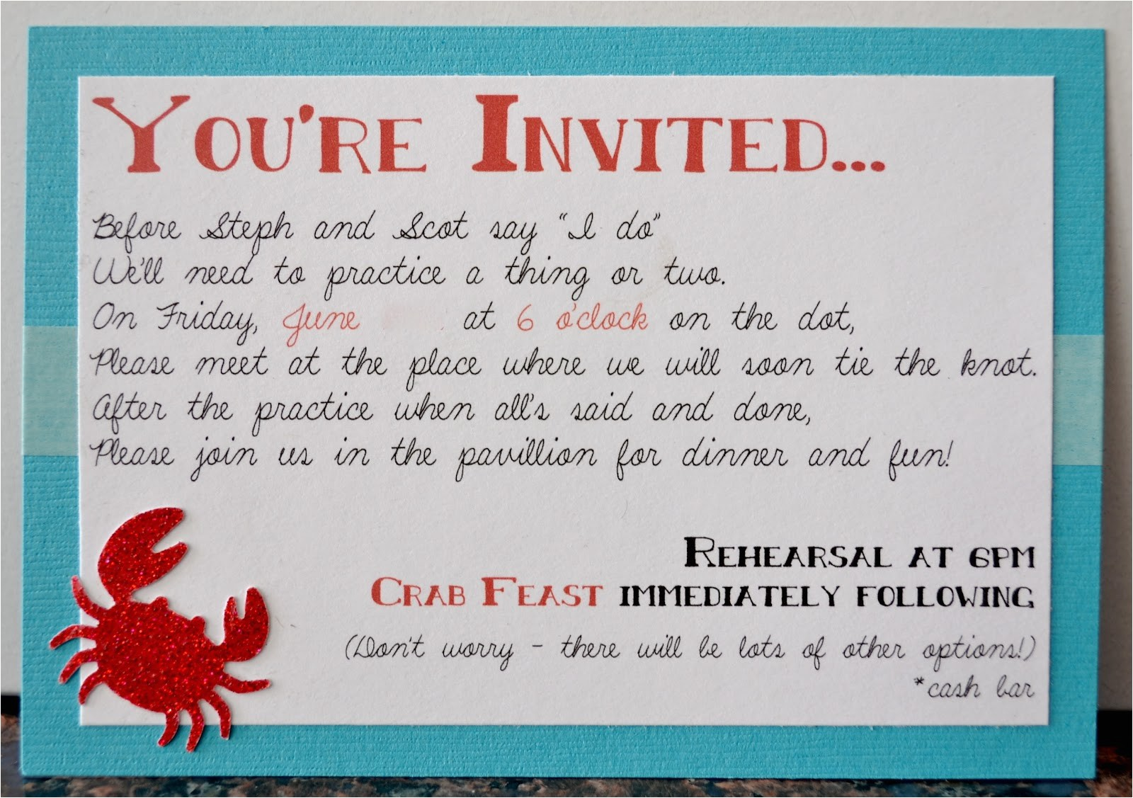 cute rehearsal dinner invitation wording