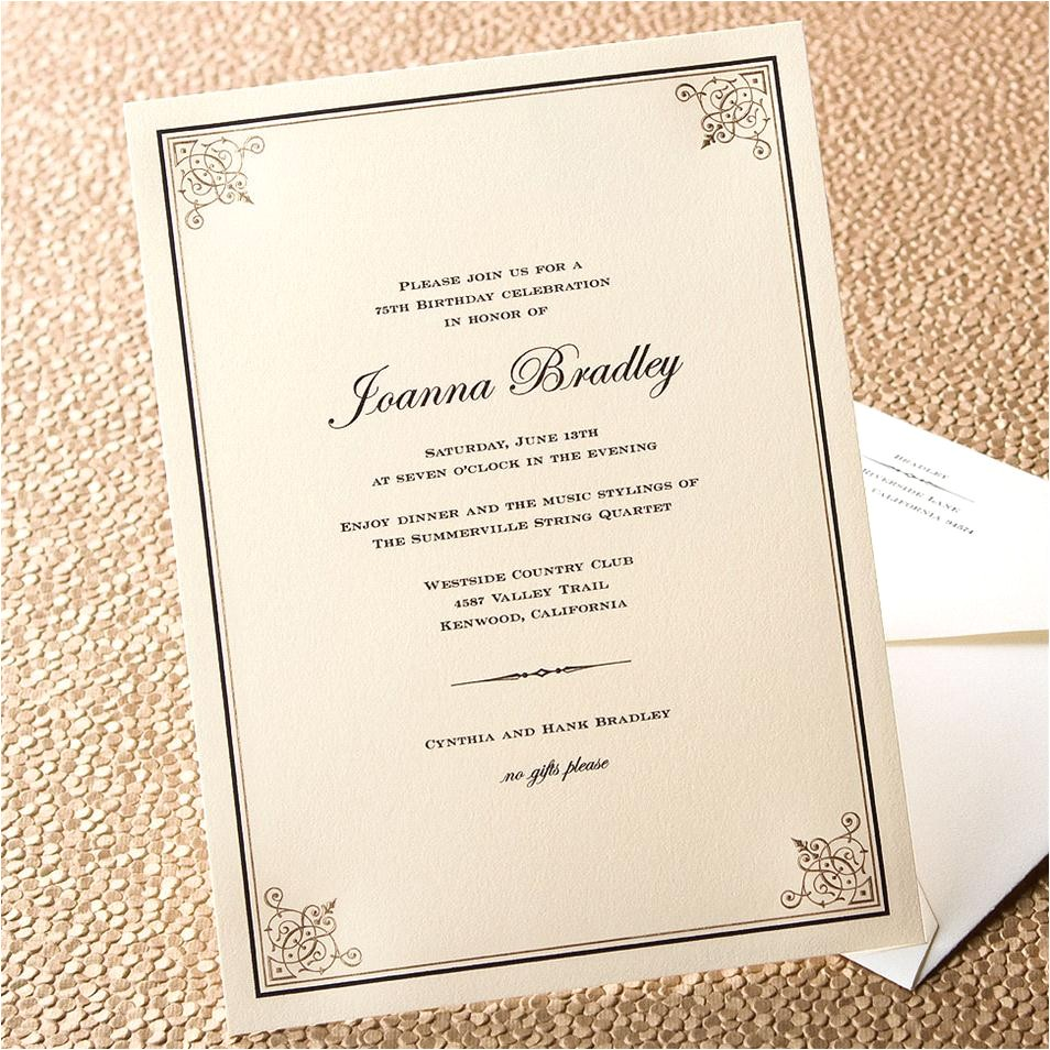 formal dinner party invitation wording