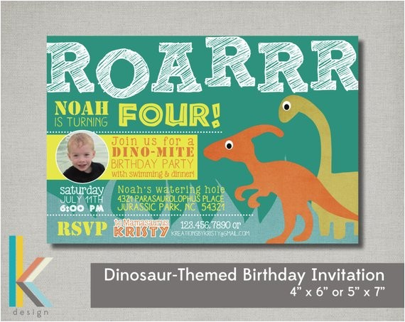 dinosaur themed birthday party photo