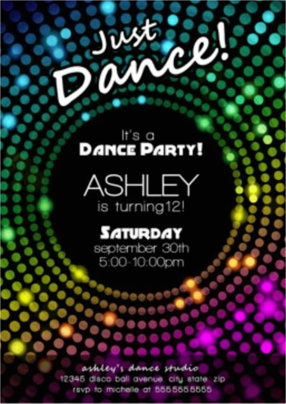 free disco party invitation