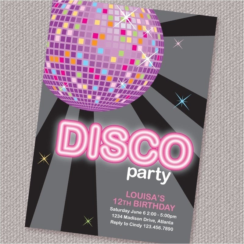 Disco Party Invites Printable Free Printable Disco Party Invitation