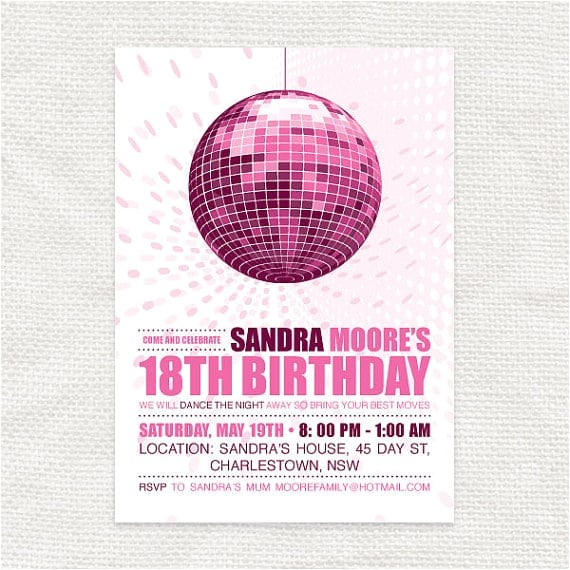 printable disco invitation free