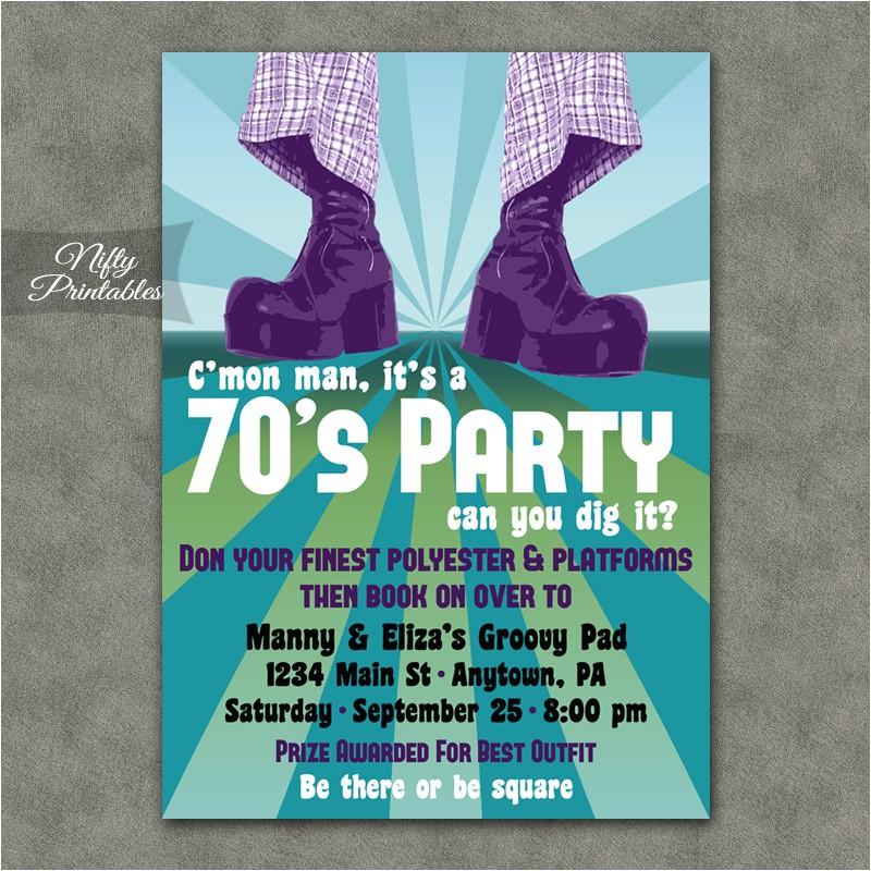 70s party invitation