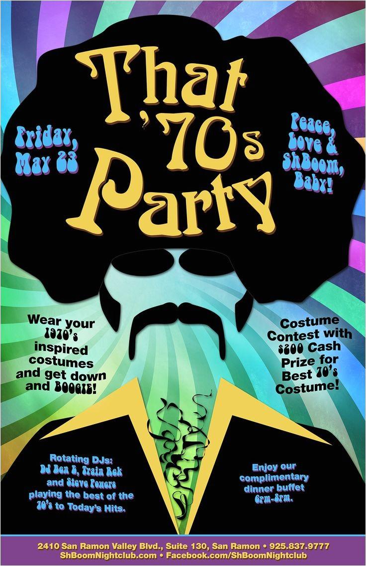 70s theme party invitations