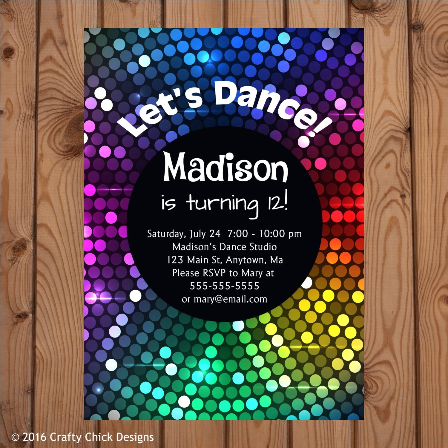 dance party invitations dance birthday