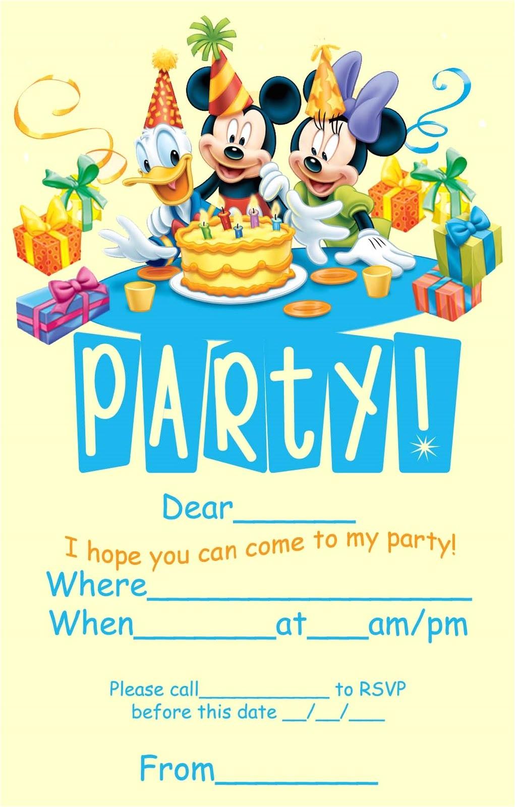 Disney themed Party Invitations Best Disney Birthday Invitations Modern Designs