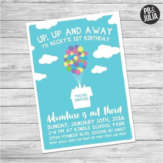 disney up birthday invite up birthday