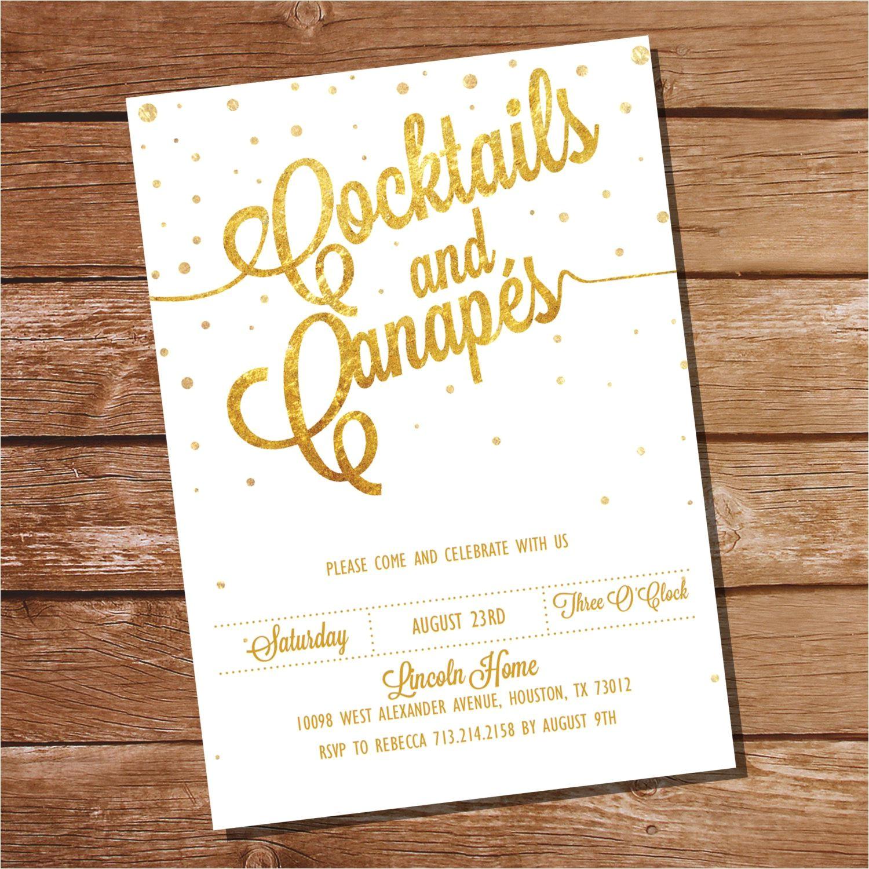 cocktail invitation template