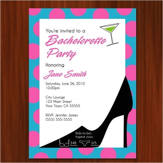 bachelorette party invitation printable