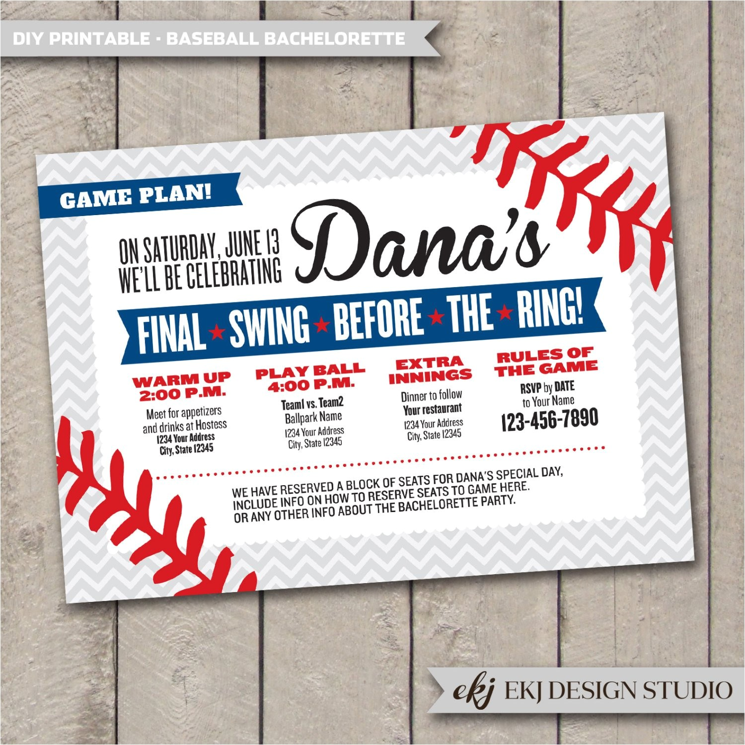 diy printable baseball bachelorette