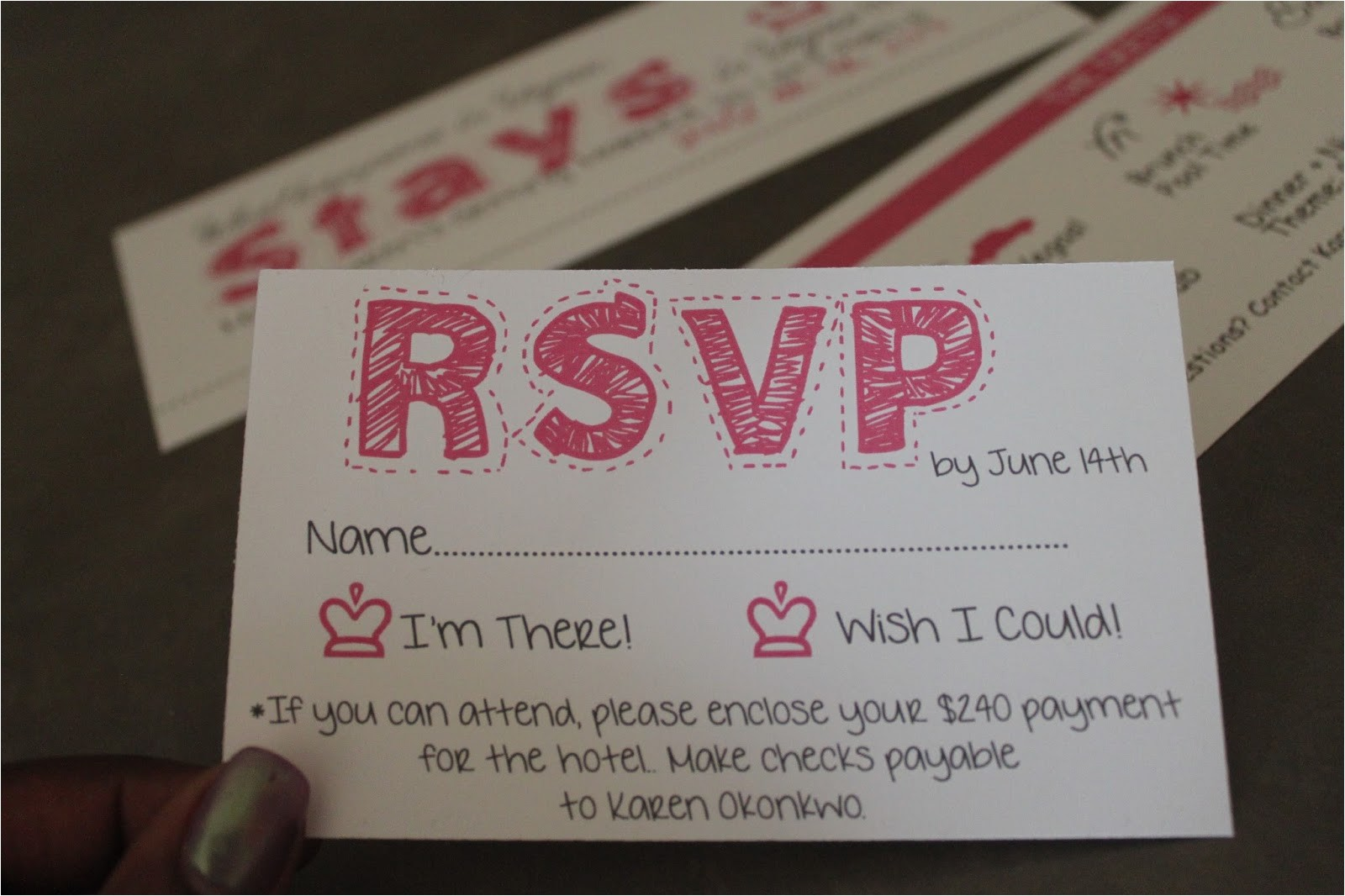 diy bachelorette party invites
