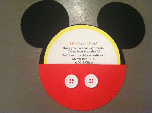 diy mickey mouse invitations and party