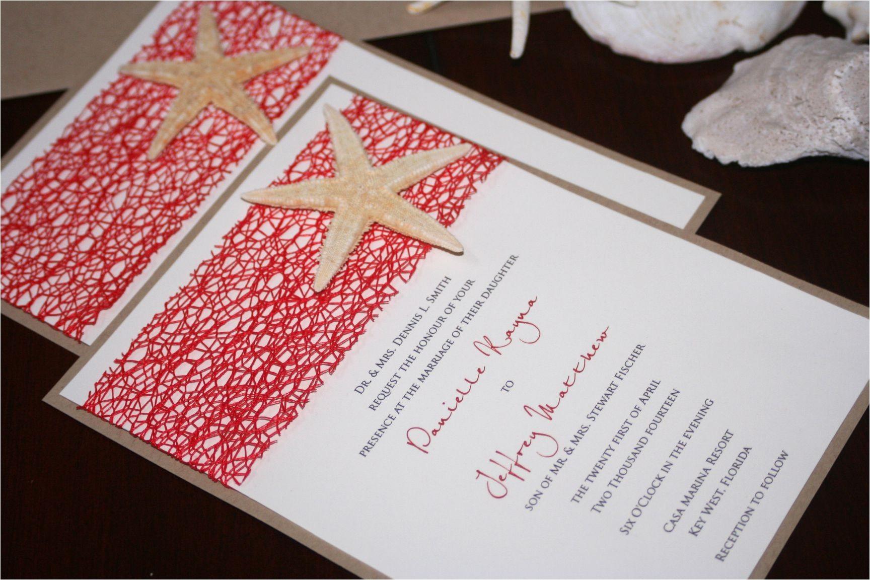 diy wedding invitation kits beach theme