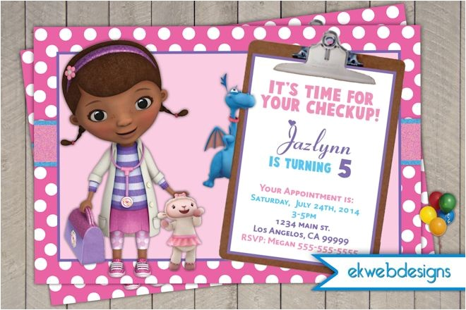 doc mcstuffins birthday invitations doctor mcstuffins a